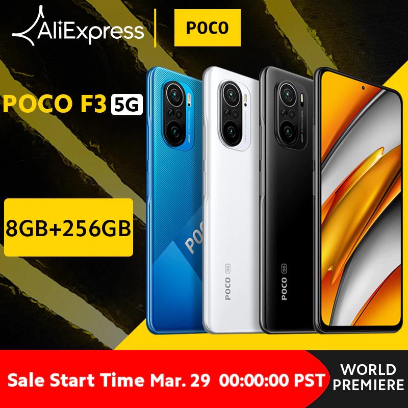 """Smartphone 6,67"""" POCO F3 5G - 120 Hz, SnapDragon 870, 8 Go RAM, 256 Go (306.65€ avec SUPER32840)"""