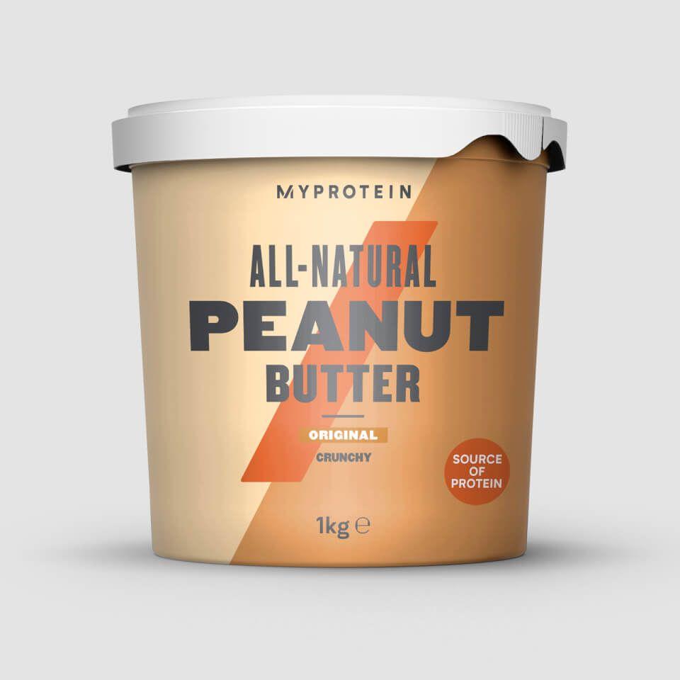 Beurre de cacahuètes - 1kg, Nature, Croustillant