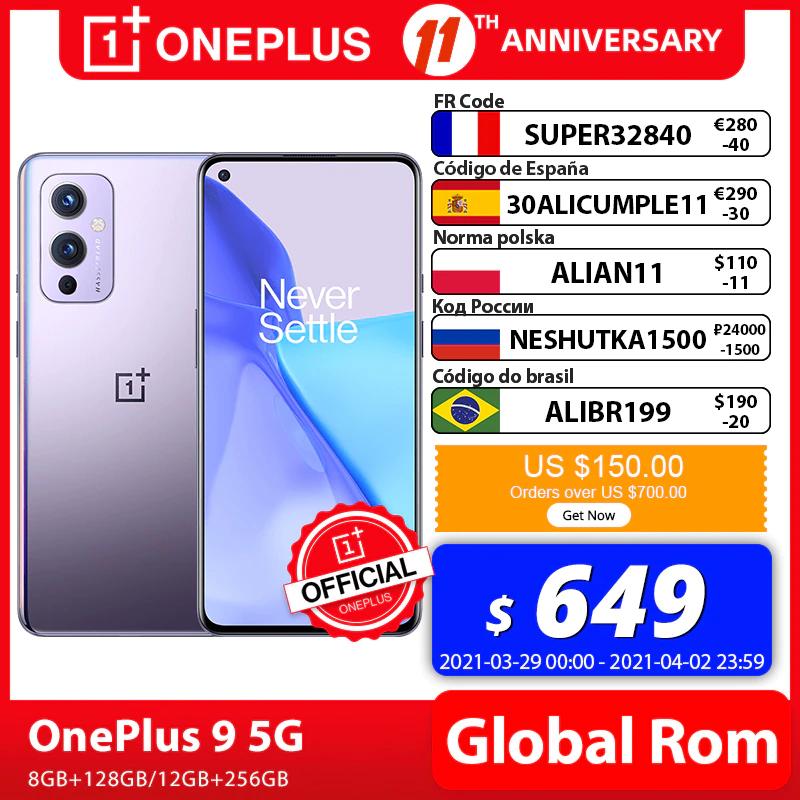 "Smartphone 6.55"" OnePlus 9 - Snapdragon 888, RAM 8 Go, 128 Go (548.85 avec DEALABS32815)"