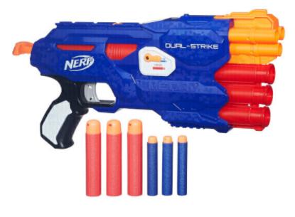 Jouet Pistolet Nerf Dual Strike (Frais de port inclus)