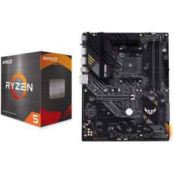 Kit Evo Processeur Ryzen 5 5600X + Carte Mère Asus Tuf Gaming B550 Plus
