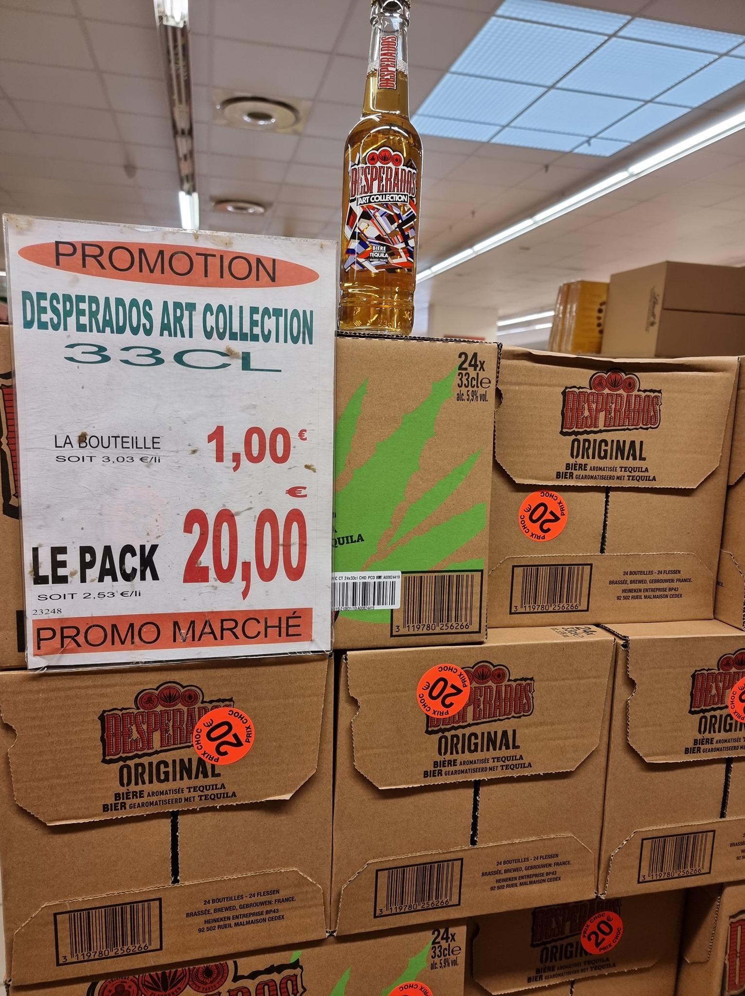 Pack de 20 Bouteilles de Desperados art collection - Promo Marché Reims (51)