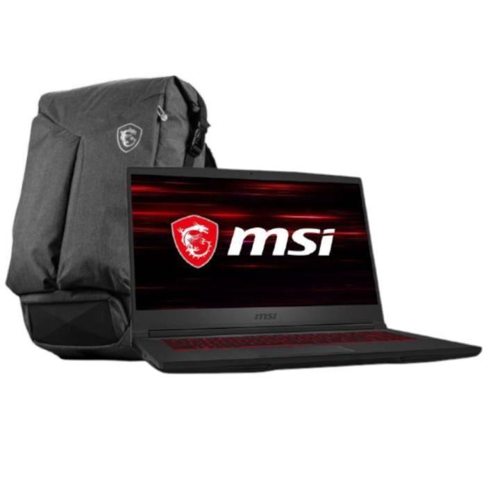 "PC Portable 15.6"" MSI GF65 Thin 9SEXR-693FR (144Hz, i7-9750H, RAM 8 Go, SSD 512 Go, RTX 2060, Windows 10) + Sac à dos"