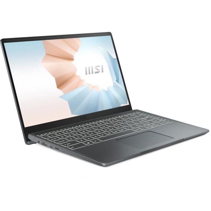 """PC Portable 14"""" MSI Modern 14 B10MW-443FR - FHD, i5-10210U, 8 Go RAM, 512 Go SSD, Windows 10"""