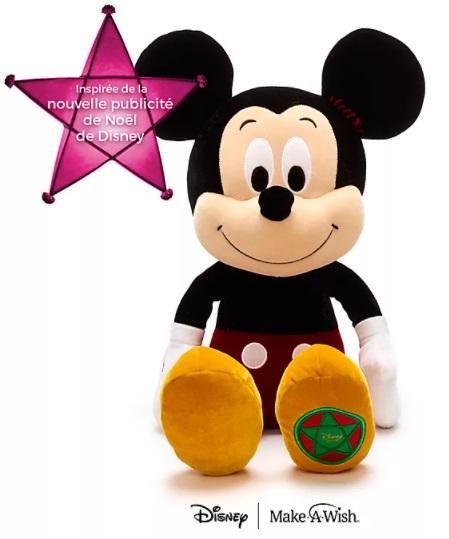 Peluche géante de Noël Mickey vintage - 60 x 30 x 33 cm