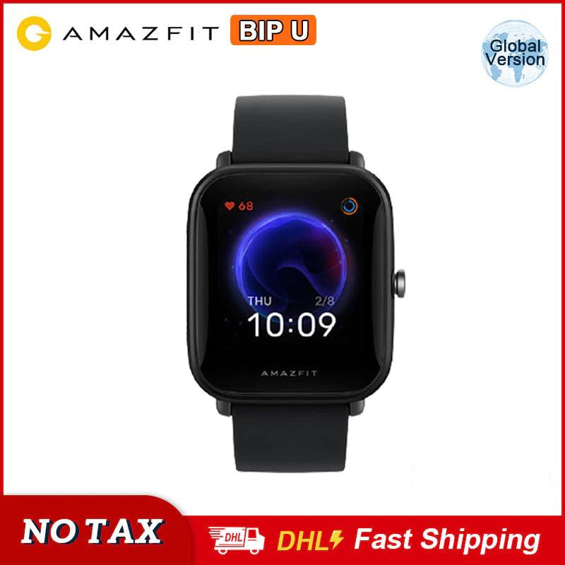Montre connectée Amazfit Bip U - Noir (42.14€ via ANNIV05)