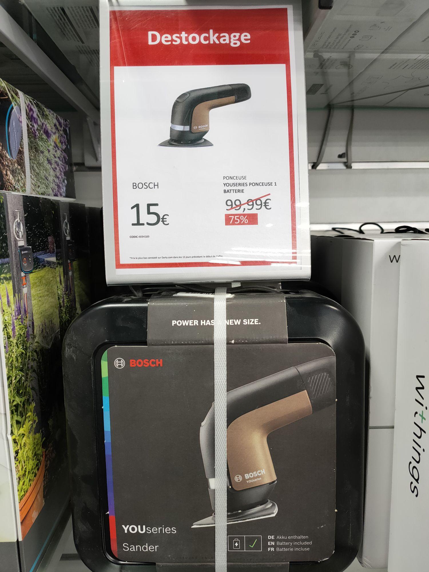 Ponceuse Sans-Fil Bosch YOUseries Sander avec 1 Batterie - Paris Belleville (75)