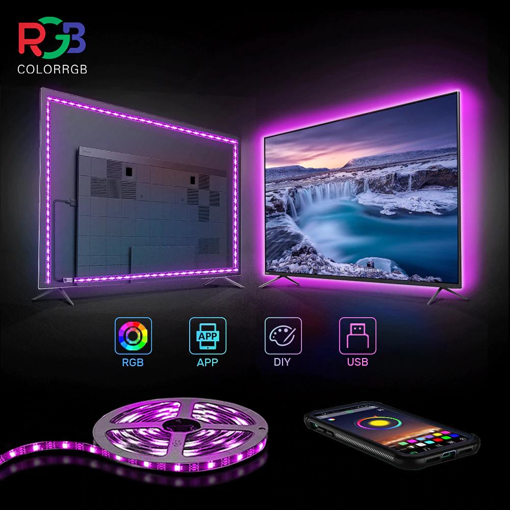 Ruban LED Color RGB - 1m, contrôlable en USB/Bluetooth
