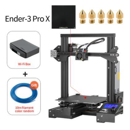 Imprimante 3D Creality Ender-3 Pro X avec Plateau en verre, 5 Buses, Filament de 10m et Box WiFi (Entrepôt Pologne)