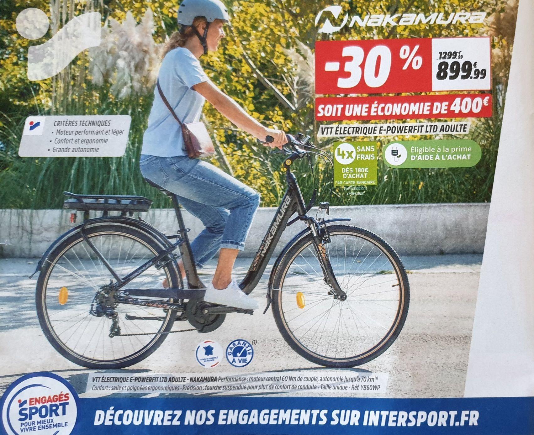 Sélection de vélos en promotion (VTT/VAE)