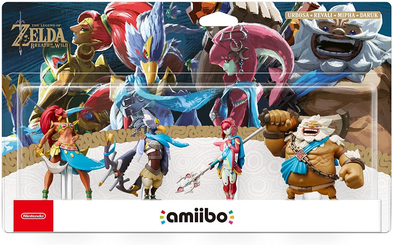 Pack de 4 figurines Nintendo Amiibo The Legend of Zelda Breath of the Wild Collection (Urbosa + Daruk + Mipha + Reval)