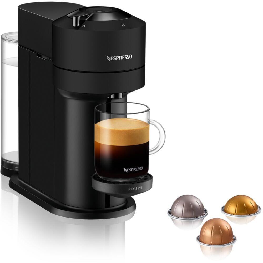 Cafetière à capsules Krups Nespresso Vertuo YY4606FD (noir) - avec 42 capsules de café (+ 5€ en Rakuten Points) - Boulanger