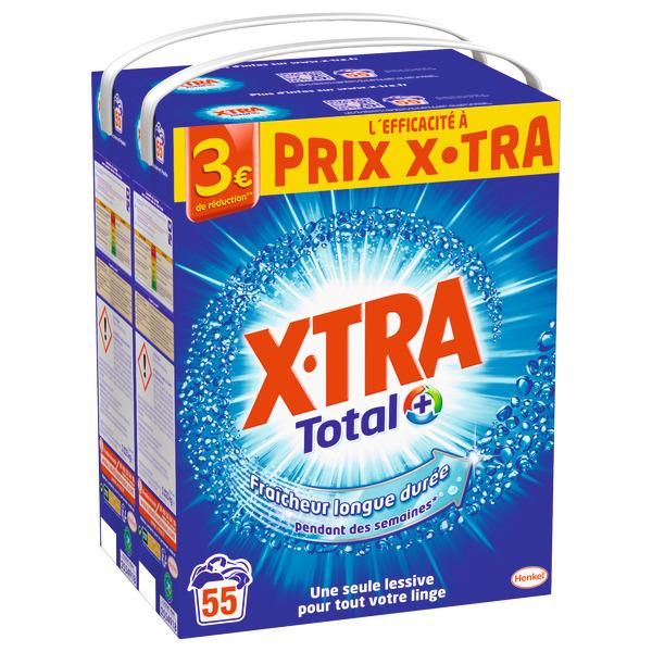 Lot de 2 boites de Lessive poudre Xtra Total - Format Familial, Différentes variétés (Via 14.59€ sur Carte Fidélité)