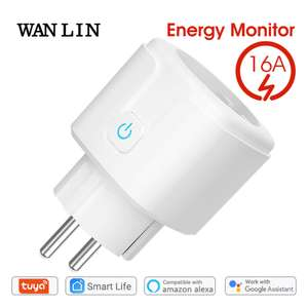 Prise connectée Tuya WAN LIN - 16A, Moniteur de consommation, Tuya, Google Assistant, Amazon Alexa, Wifi
