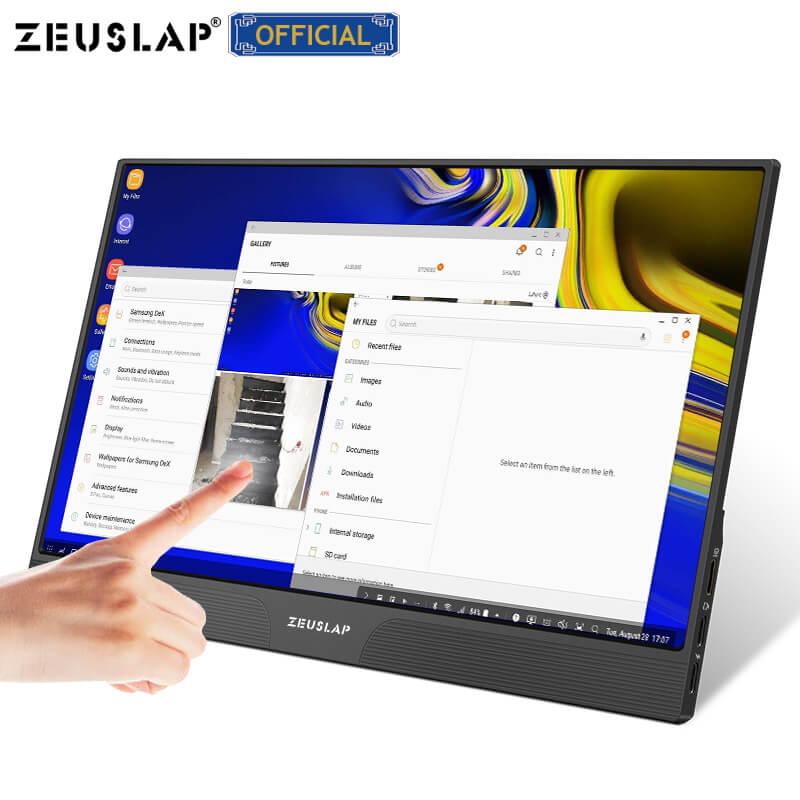 """Écran 15,6"""" Zeuslap Z15ST - Tactile, Full HD IPS, HDR, HDMI, USB-C (x2), 4ms"""