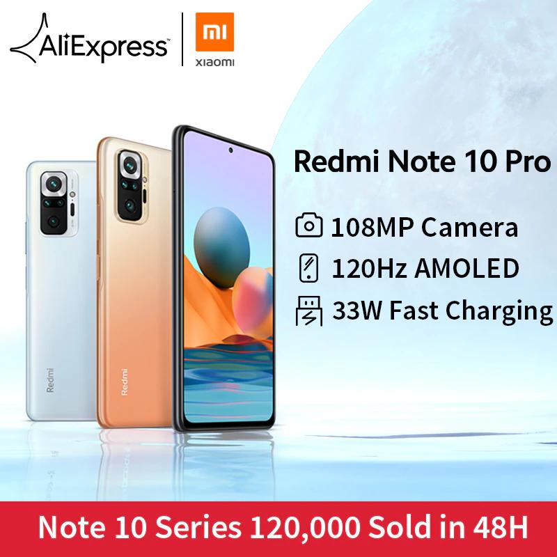 "Smartphone 6.67"" Xiaomi Redmi Note 10 Pro - 6 Go de RAM, 128 Go de stockage (239.47€ via le code PASSION28)"