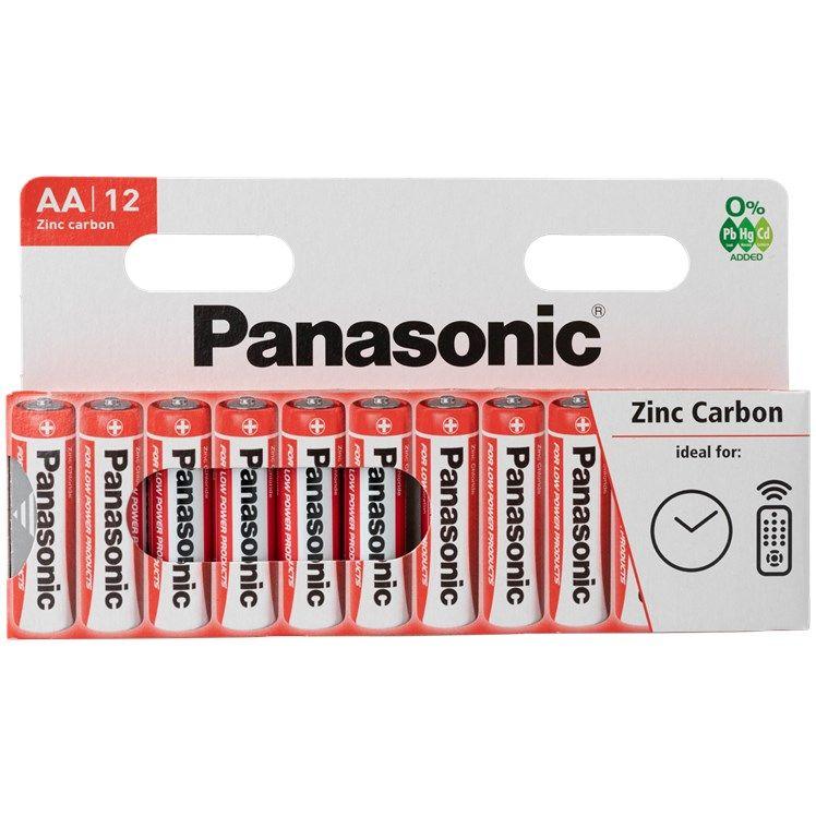Lot de 12 piles Panasonic AA ou AAA