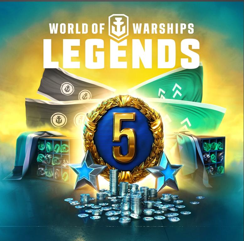 Réserve de crédits Gratuit pour World of Warships: Legends offert sur PS4/XBOX (Dématérialisé)