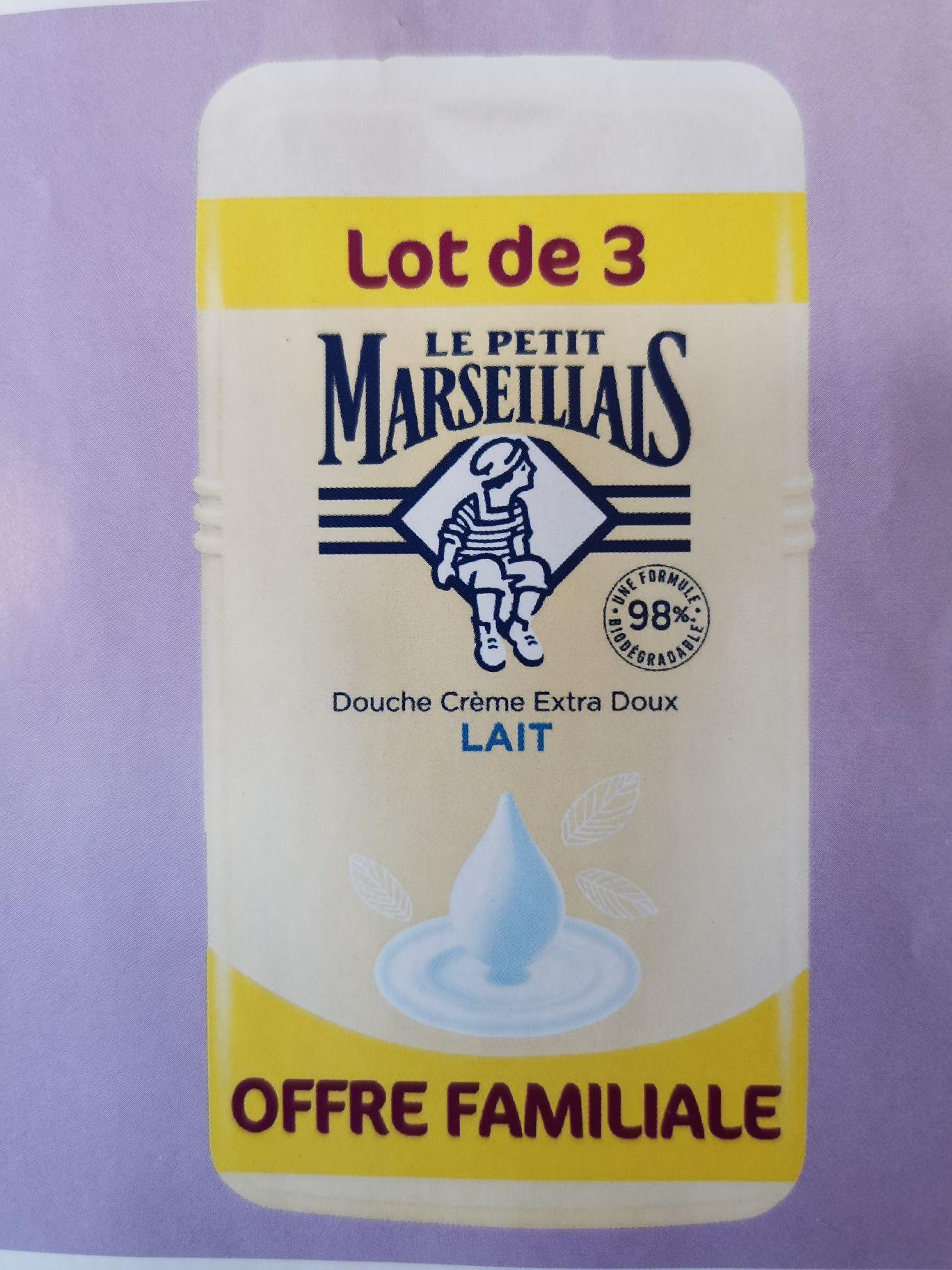 Lot de 3 gels douche Le Petit Marseillais - 3 x 250ml, différentes variétés (via 4.05€ sur la Carte de Fidélité)