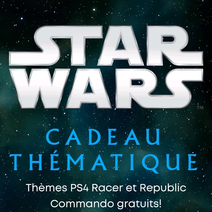 2 Thèmes Dynamiques PS4 Star Wars Racer & Republic Commando Gratuits (Dématérialisés - aspyr.com)