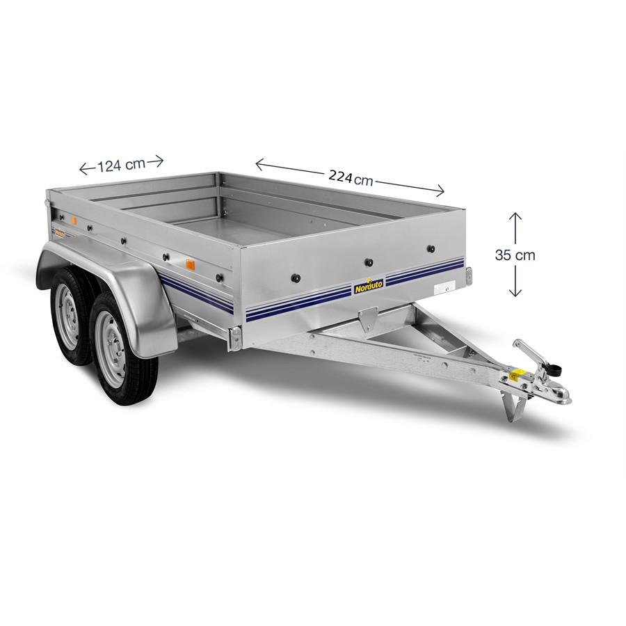 Remorque 2 essieux Norauto Nor 2300 - 750 kg