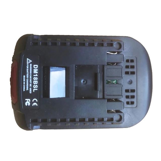 Sélection d'adaptateurs batterie pour outils électriques - Ex: Convertisseur de batterie DM18BSL pour batterie Li-Ion Milwaukee DCB200