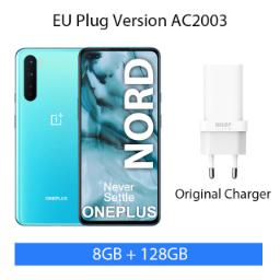 "Smartphone 6.44"" OnePlus Nord - 5G, Full HD+ 90 Hz, Snapdragon 765G, RAM 8 Go, 128 Go (Entrepôt France)"