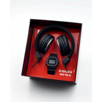 Coffret montre + casque G-Shock black & red multi fonctionsDW-5600HR-1ER