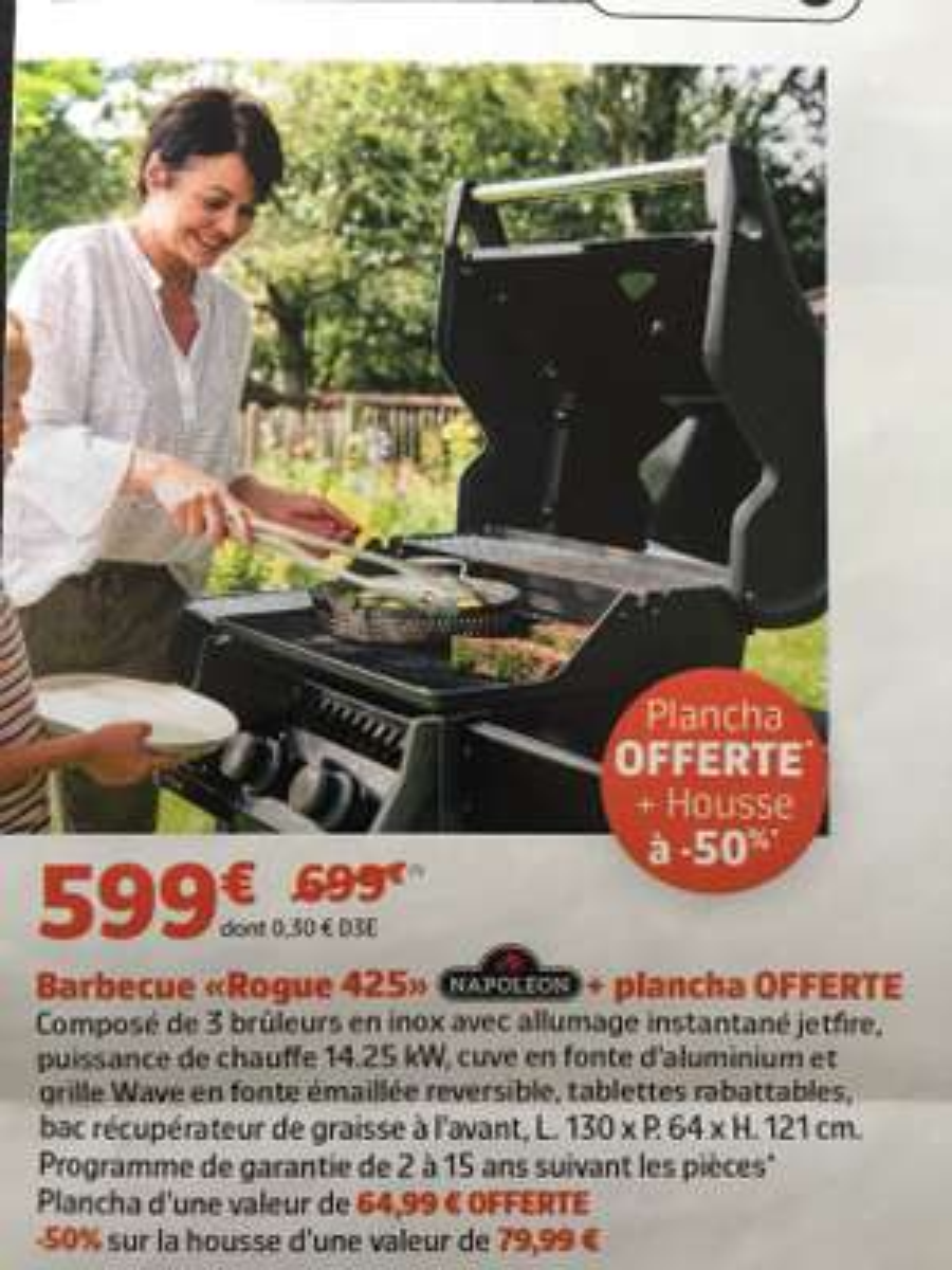 Barbecue Napoleon Rogue 425 + Plancha offerte + Housse