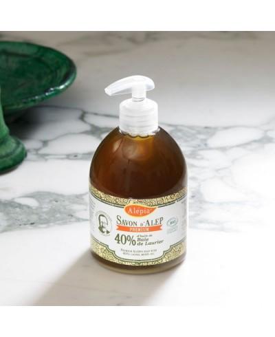 Savon d'Alep liquide Bio - 40% de baies de laurier - 500 ml