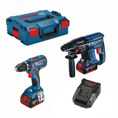Pack Bosch Professionnel: Perceuse GSR 18V-28 + Perforateur SDS-Plus GBH 18V-21 + 2 batteries Li-Ion 4Ah + coffret Lboxx + chargeur