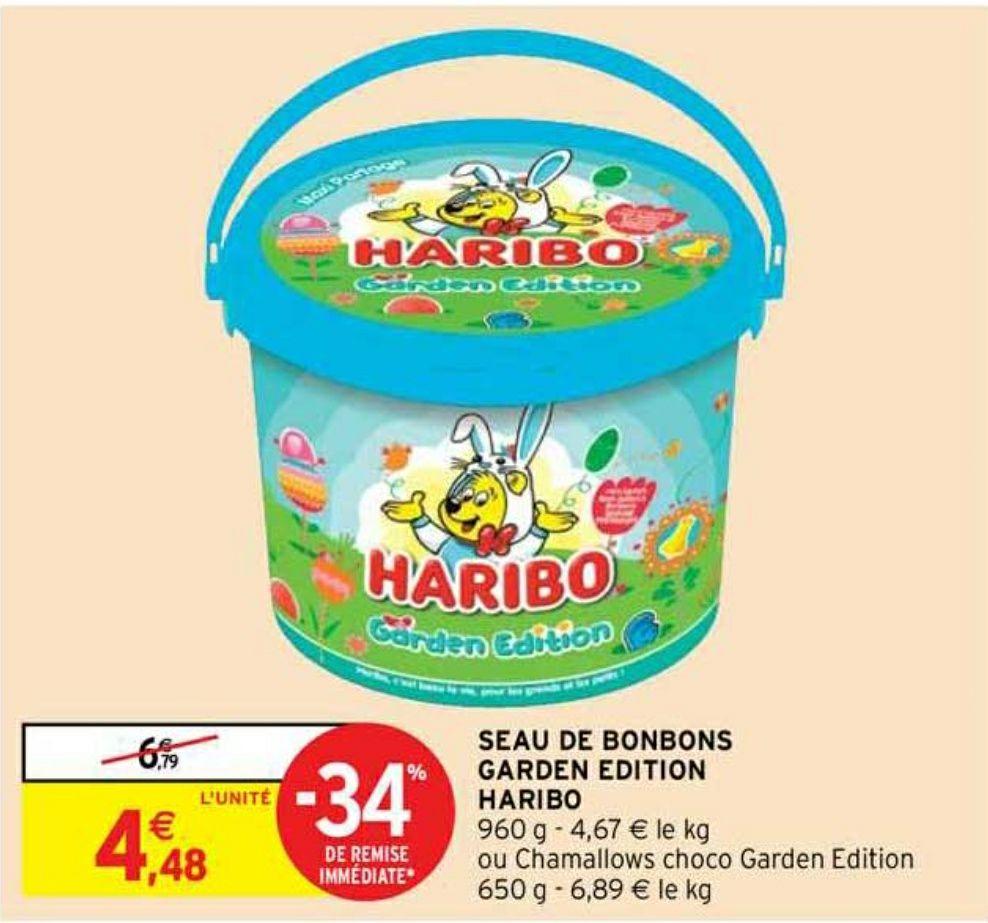 Seau de bonbons Haribo Garden Party - 1 kg