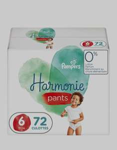 Couches-Culottes Pampers Harmonie Pants - Taille 6 (15+ kg), 72 couches