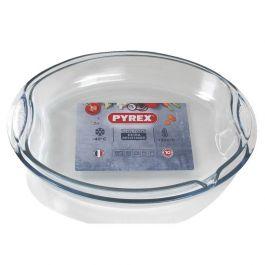 Lot de 2 plats Pyrex ronds (42 x 30cm : 4.3 litres et 42 x 30cm : 4 litres)