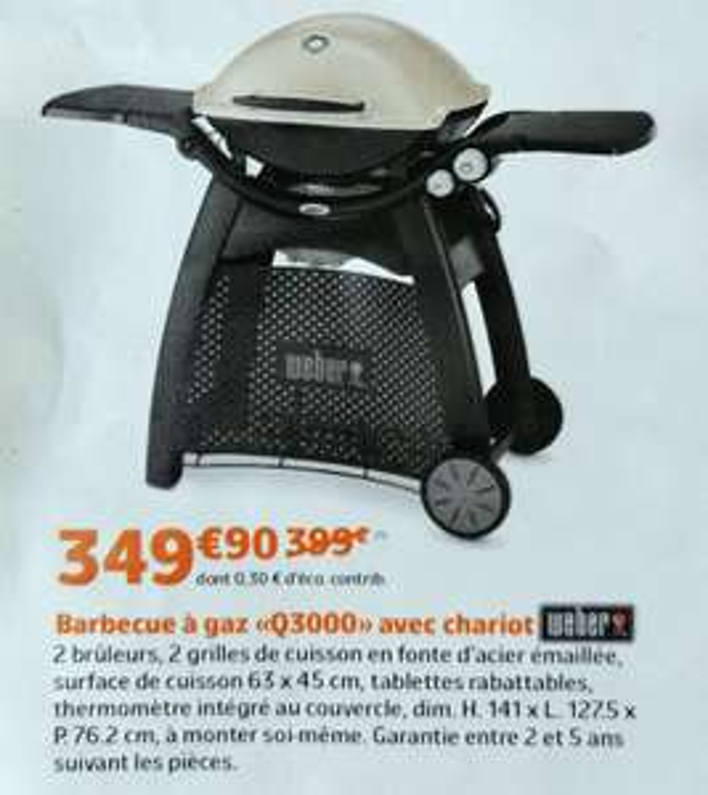 Barbecue à gaz Weber Q3000 - Pays de La Loire