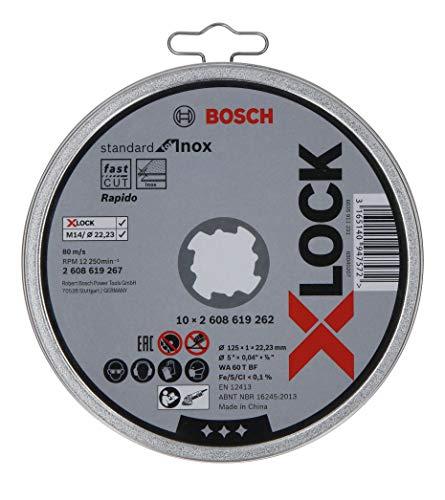 Lot de 10 Disques à Tronçonner à Surface Plate pour Inox Bosch Professional Standard