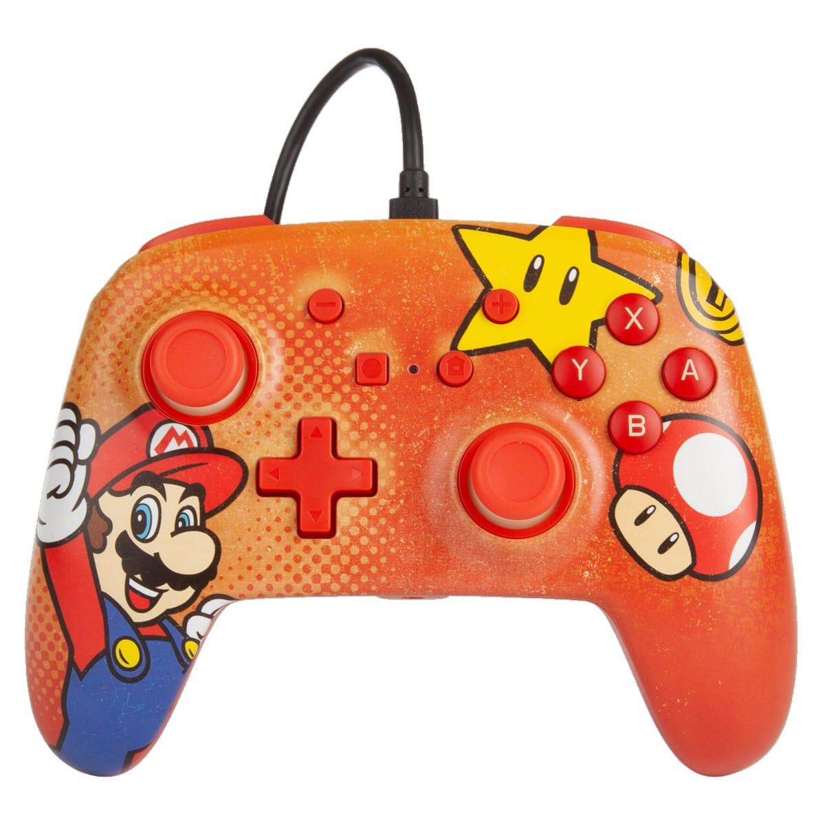 Manette filaire Mario Vintage pour Nintendo Switch