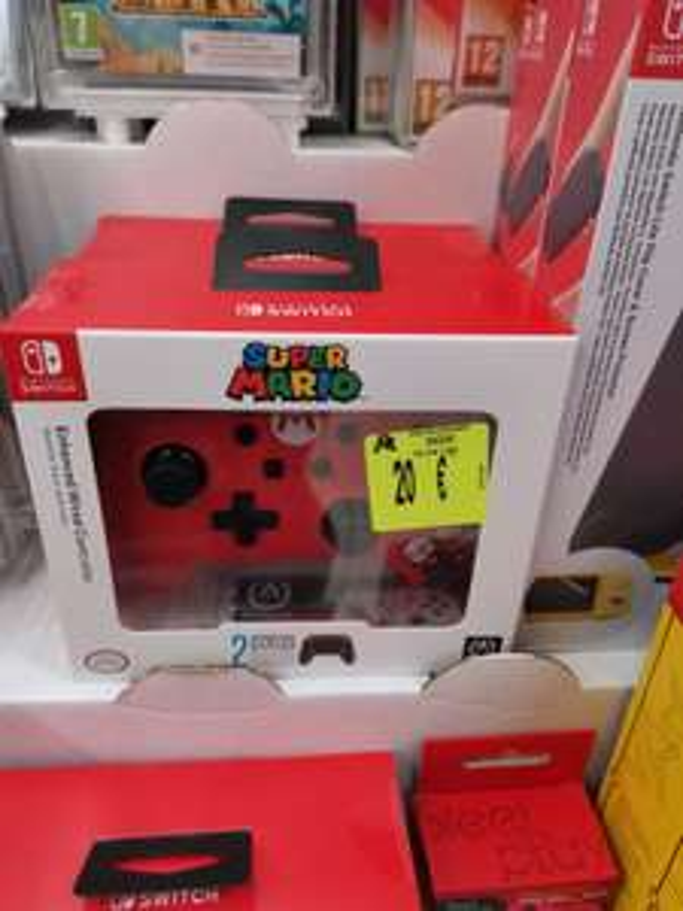 Manette filaire Nintendo Switch Super Mario - Auchan semécourt (57)