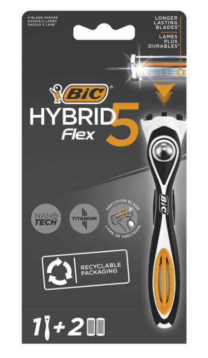 Rasoir homme Bic Flex5 Hybrid + 5 lames