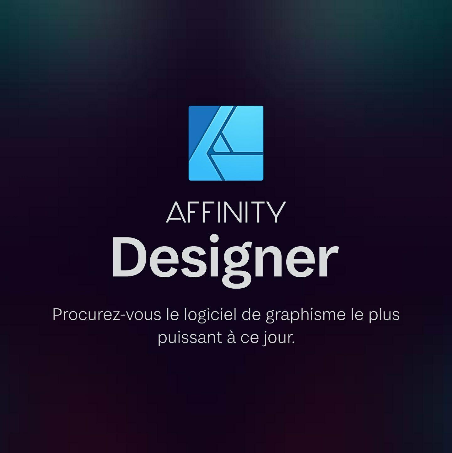 50% de réduction sur les logiciels Affinity - Ex : Affinity Designer, Photo ou Publisher sur PC et Mac (Dématérialisé - serif.com)