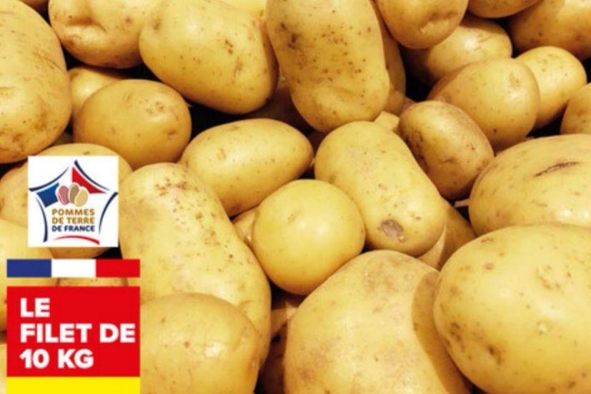 Filet de pommes de terre (Catégorie 1), Origine France variétés selon approvisionnement (10kg)