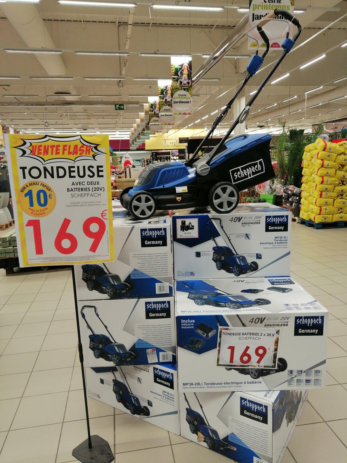 Tondeuse électrique MP-38 Sans Fil Scheppach avec 2 Batteries 2.5Ah (Via 10€ en Bon d'achat) - Lescure d'Albigeois (81)