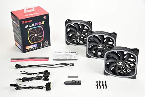 Pack de 3 ventilateurs de boîtier PC Enermax Squa - 120mm, aRGB, PWM + contrôleur
