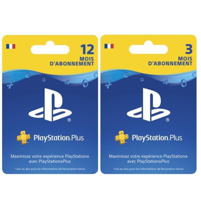 Abonnement Playstation Plus (PS+) de 12 mois + 3 mois (15 mois)