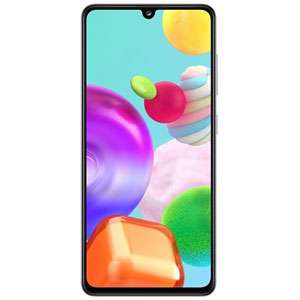"""Smartphone 6.1"""" Samsung Galaxy A41 - Full HD+ Super AMOLED, Helio P65, 4 Go RAM, 64 Go, blanc"""