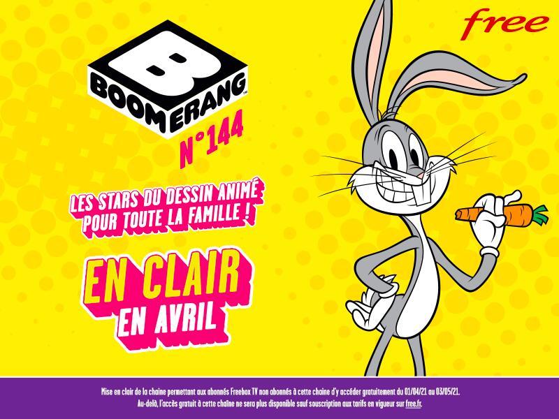 [Clients Freebox] Chaînes Boomerang et Boomerang +1 en clair