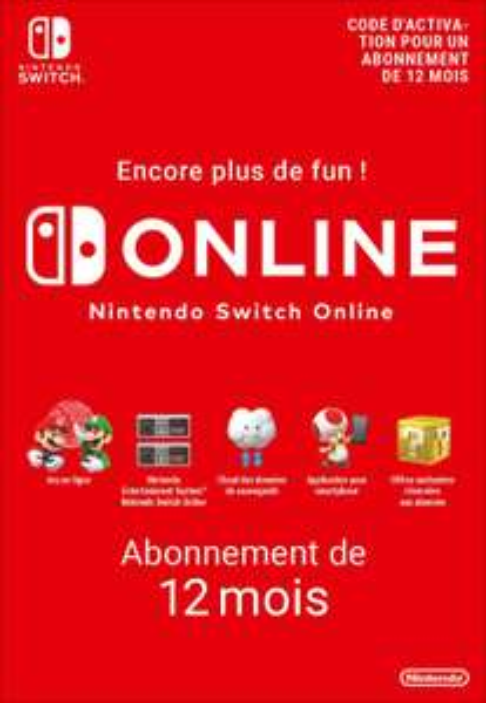 Abonnement 12 mois au Nintendo Switch Online (Dématérialisé)