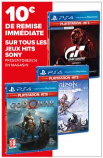 10€ de réduction sur la collection complète de jeux PS4 Playstation Hits - Ex: God Of War