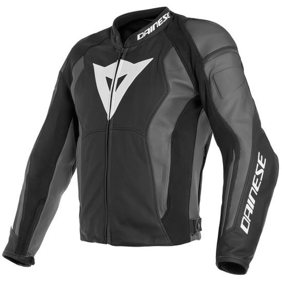 Blouson moto cuir Dainese Nexus Black pour Homme - Tailles 44 à 50 & 56