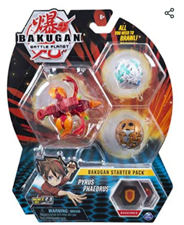 Starter Pack Bakugan Pyrus Phaedrus (3 personnages)